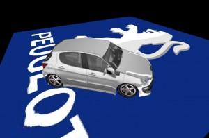 peugeot3d 300x199 Papervision 3D Experiment for Peugeot