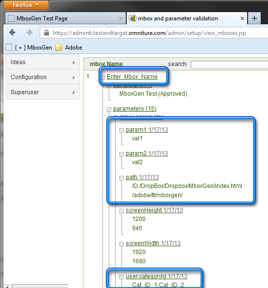 6b1  MboxGen – Test&Target Visual Mbox Creator   Update